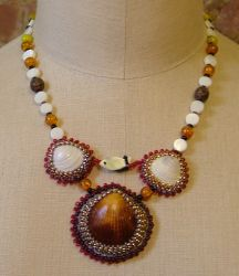 Shells and fish necklace by nellielaan