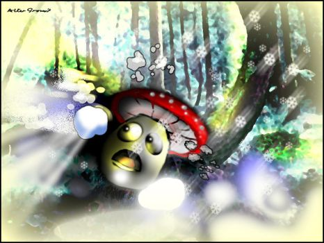 Fungus and the snow ball by altergromit