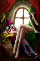 Lazy Witches by syringex99