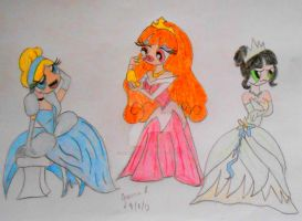 Powerpuff Princesses by Looneygurl96