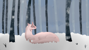 Laying in the Snow ~ Kukuri by Wildflower-Ivalia