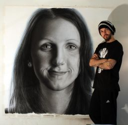 Charcoal portrait of my sister by AtomiccircuS