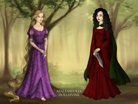 Rapunzel and Mother Gothel by DarthCrotalus