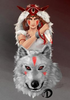 princess mononoke by v8galgo