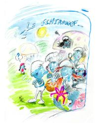 Le Schtroumpf / The Smurf by Kakhi-dot-dot-dot