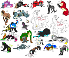 Huge Sheet of Adopts - CLOSED by Sapphira-Page