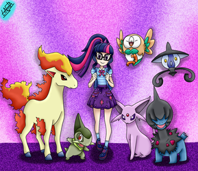 Twilight Sparkle - Pokemon by liniitadash23