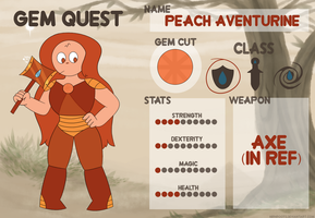 Peach Aventurine - Gem Quest by netflixandsapphire