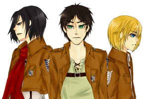 SnK Trio by pottertwins186