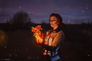 Triss Merigold cosplay by RedChaosCosplay