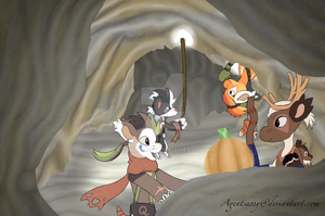 #5 October Prompt: Spooky Cave by agentsassy