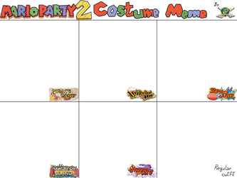 Mario Party 2 Costume Meme (TEMPLATE) by JuacoProductionsArts