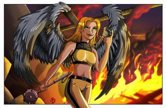 Hawkgirl Commission by MachSabre