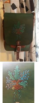 Green Woman field bag (#2) by danaan-dewyk