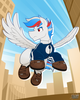-Commission- Wind Chaser by BuizelCream