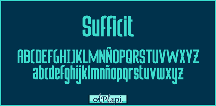 Sufficit -APlaPi Typography by APlaPi