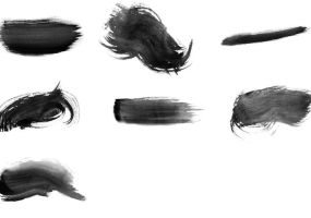 High-Res Watercolor Photoshop Brushes by bobo2017