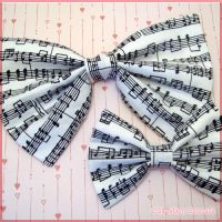 Music Note Bows by Strawberryserenade