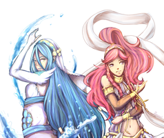 Fire Emblem - Azura + Olivia by Pidoodle