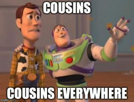 Everywhere: Cousins by lightyearpig