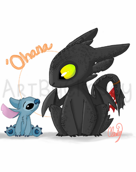 stitch and toothless by emochicklette04