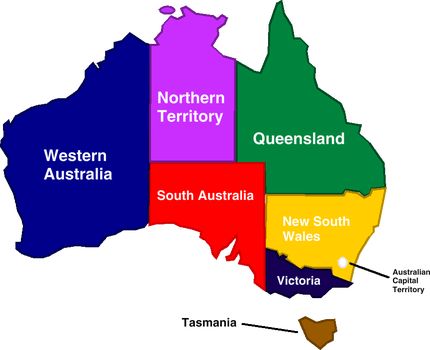 Colorful Australia (with names) by Jordan2048