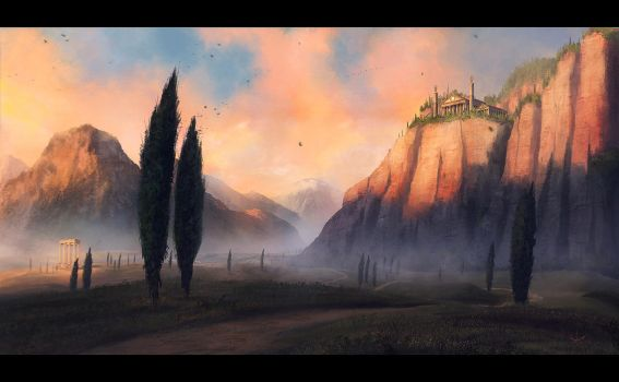 Cypresses by Sleax