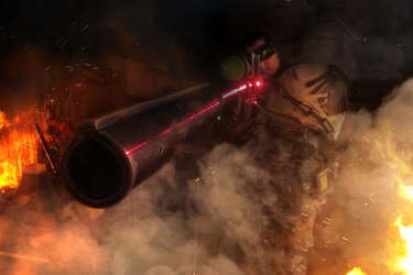 Space Marine Scout Sniper by ARKURION