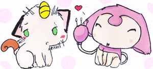Meoww- Skitty And Meowth