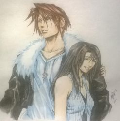 Squall and Rinoa by MemoryFragment