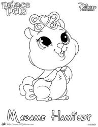 Madame Hamilot Princess Palace Pet Coloring Page by SKGaleana