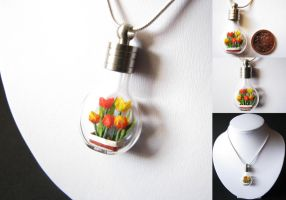 Miniature Origami Tulips by Paper-Peaches
