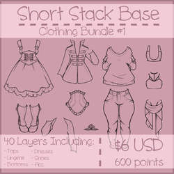 Short Stack Clothing Bundle #1 by Omega-Fluff