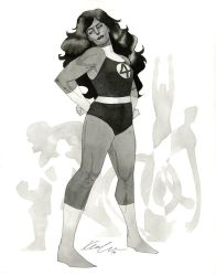 Fantastic Four She-Hulk - HeroesCon 2014 sketch by kevinwada