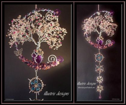 Cherry Blossom family wire tree by illustrisdesigns