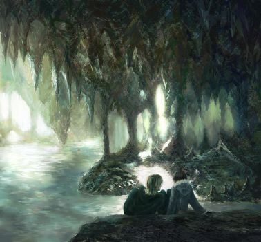 the cave by Flayu