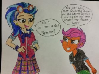 Mlp/Request: Indigo zap and Scootaloo by dcb2art