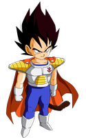 Colored 016 - Vegeta 005 by VICDBZ