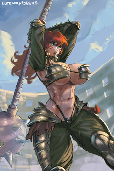 fem gladiator commission ver.2 by cutesexyrobutts