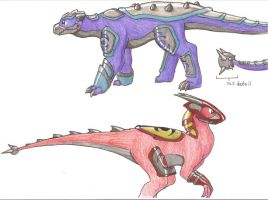 Fakemon- evolutions by DarkKitsunegirl