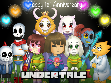 HAPPY 1ST ANNIVERSARY UNDERTALE! by Jany-chan17