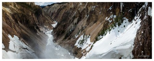 Grandcanyon of The Yellowstone Snow 2 by ANNIHILATOR001