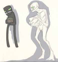 More enderman doodles by LiLaiRa