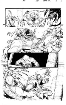 Venom: 'Space Knight' #10, page 6 lineart. by Arioanindito