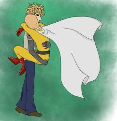 Hugs from Caped Baldy by Time-collision