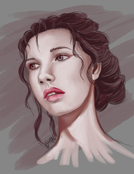 Speed Painting: Girl's Portrait by Wolfvane14