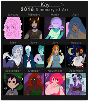2016 Summary of Art by faerie-daze