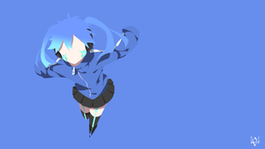 Ene (Mekakucity Actors) Minimalist Anime Wallpaper by Lucifer012