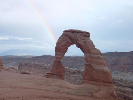 The Rainbow and the Arch by DenebolaZenPhoto