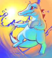 Sunset Totodile by Umbrielle